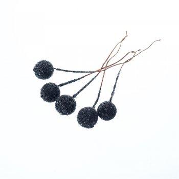 Декоративные элементы в сахаре. Черный. Диаметр 12 мм