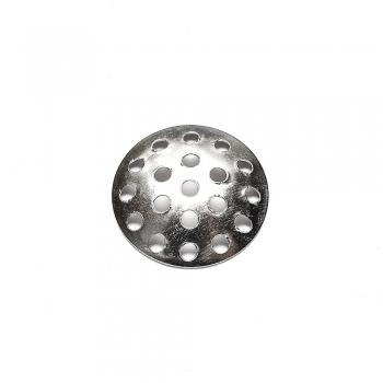 Ґратчасті основи для брошок мельхіор, 14 мм