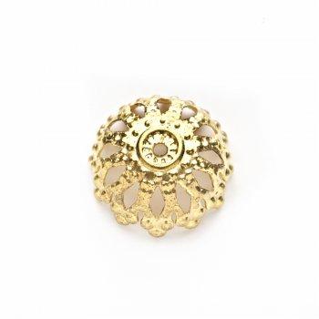 Золотые обниматели. Золотой. Диаметр 12 мм, глубина 5 мм.
