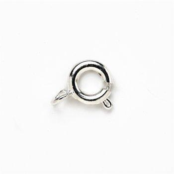 Карабин круглый серебристый, диаметр 6 мм