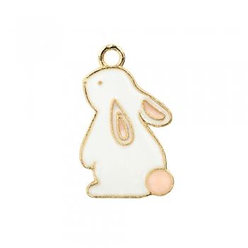 Металева підвіска з емаллю Кролик