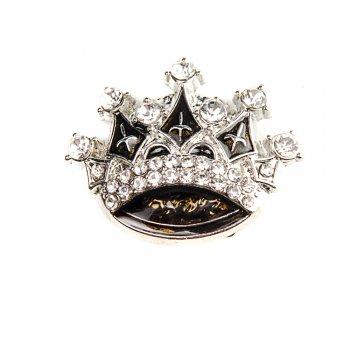 Бусина кнопка SNAP с эмалью Корона
