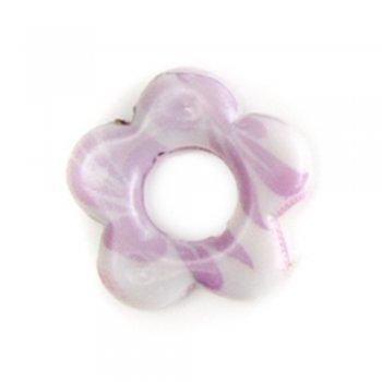 Цветок пластиковые бусины с цветочным узором
