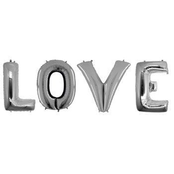 Кульки надувні у вигляді слова LOVE 40 см