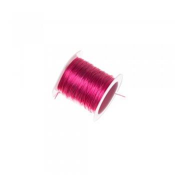 Резинка силіконова тонка малинова 0,5 мм