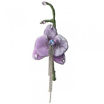 Брошь Орхидея (ручная работа)
