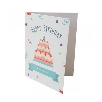 Открытка 104х80 Happy Birthday трехъярусный торт