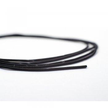 Канітель м'яка чорна 1мм (1 метр)