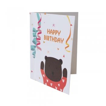 Открытка 104х80 Happy Birthday с мишкой