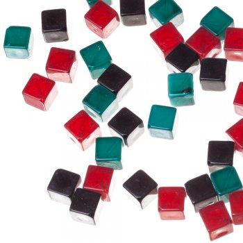 Пластиковые бусины кубической формы 12мм