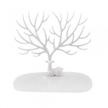 """Подставка-манекен для украшений """"Благородный олень"""" белый"""