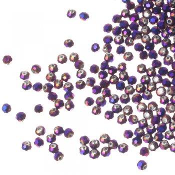 Бусина круглая, фиолетовая, хрусталь, 4 мм