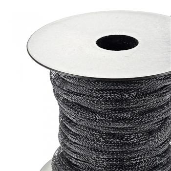 Шнур нейлоновый плетеный, черный, 8 мм