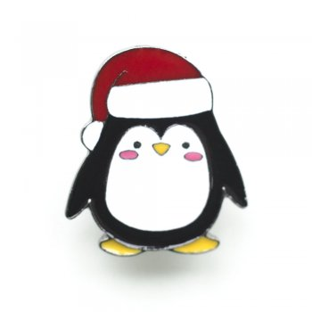 "Значки на пине металлические ""Пингвин"""