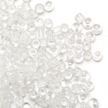 Бисер круглый, мелкий, прозрачный. Калибр 12 (1,8 мм)
