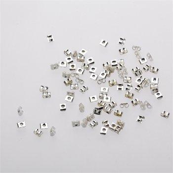 Фіксатори для сережок срібло округлий прямокутник