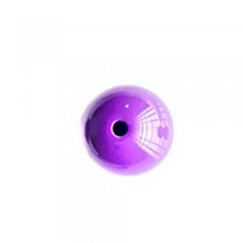 Бусина 16 мм. Пластик одноцветный тёмно-фиолетовый опаковый непрозрачный