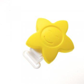 Кліпса силіконова квітка-сонечко жовта