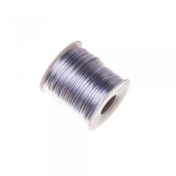 Шнур полиэстеровый 2 мм серый
