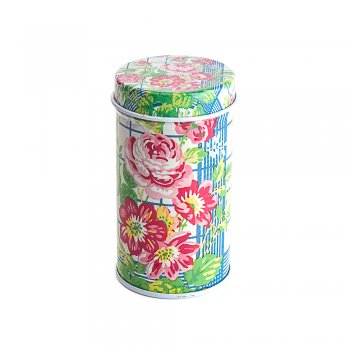 "Коробочка жестяная 4х7,5 см ""Цветы"""