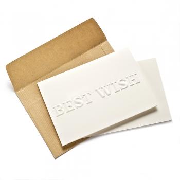 Открытка с конвертом Best Wish