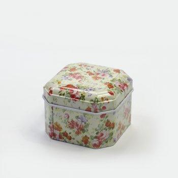 Коробочка жестяная  6,5х6,5х4,5 см