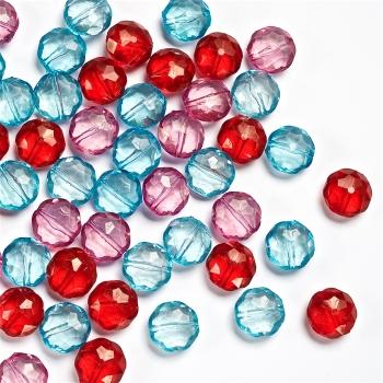 Пластиковые кристаллы круг 14 мм