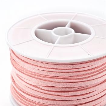 Шнур рожевий замша 3 мм