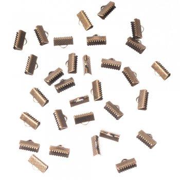 Затискачі для стрічок бронза 12 мм