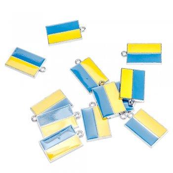 """Подвеска с цветной эмалью желто-синие. Подвеска """"Флаг Украины"""""""
