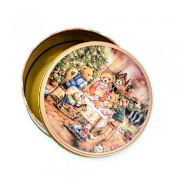 Коробочка жестяная круглая 13,5х6,7 см