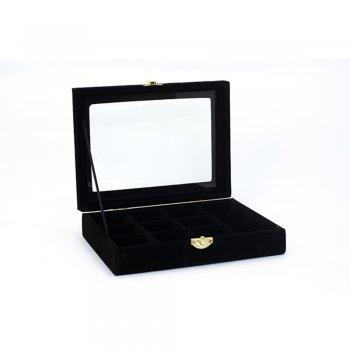 Шкатулка для хранения украшений черная