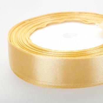 Атласна стрічка. Приглушено-золотий. 20 мм.