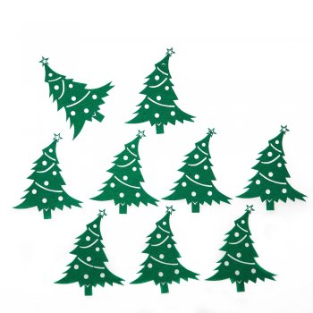 Декор Ёлка, войлок, зелёная