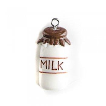 Молоко коричневое. Подвески из полимерной глины микс цветов сладости