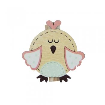 Прищіпка дерев'яна Птах