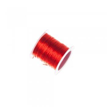 Резинка силиконовая, красная, 0.8мм