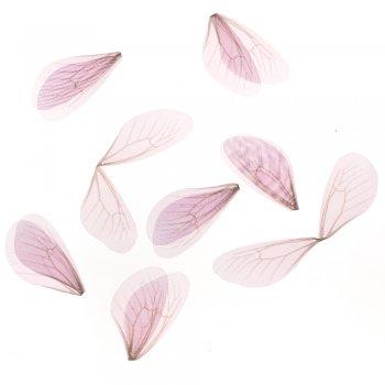 Шелковые крылышки розовый сиреневый
