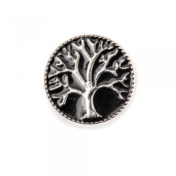 Бусина кнопка SNAP Дерево