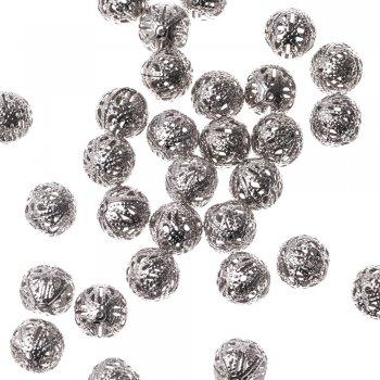Ажурные бусины мельхиоровые 14 мм