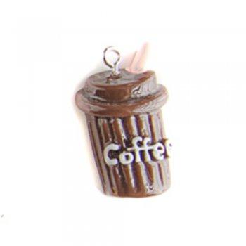 Кофе коричневый. Подвески из полимерной глины микс цветов сладости