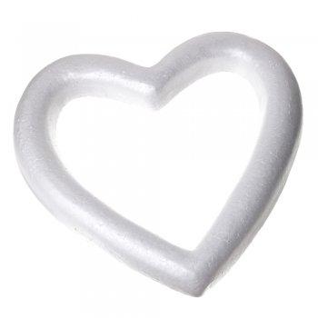 Пенопластовая заготовка сердце. Белый. 40 см