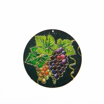 Кулон металлический виноград
