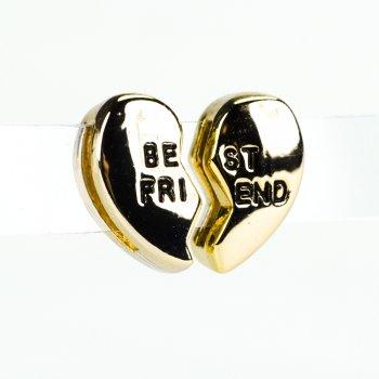 Бусина слайдер Best friend лимонное золото