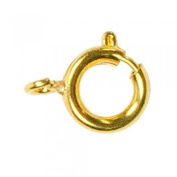 Карабін круглий золотий, діаметр 9 мм