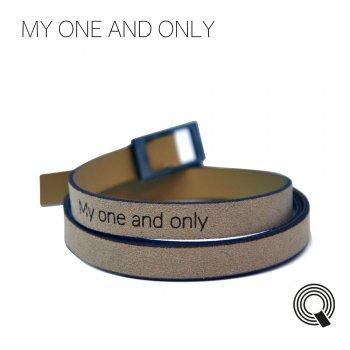 "Браслеты квоутлеты ""My one and only"", кремовый"