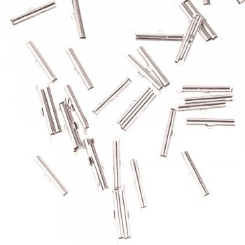 Затискачі для шнурів і каучуку мельхіор 25 мм