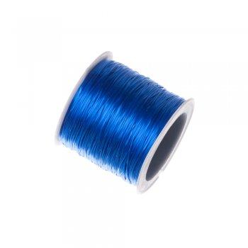 Резинка силиконовая, синяя, 0.8мм