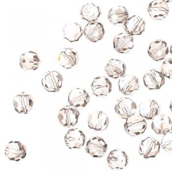 Бусина круглая, прозрачная, с серым оттенком, хрусталь, 12 мм