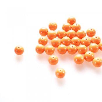 Бусина стеклянная 14 мм оранжевая